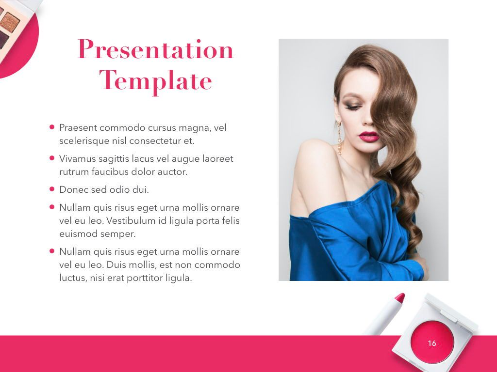 Beauty and Makeup PowerPoint Theme, Slide 17, 05148, Presentation Templates — PoweredTemplate.com