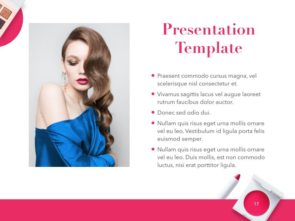 Beauty and Makeup PowerPoint Theme, Slide 18, 05148, Presentation Templates — PoweredTemplate.com