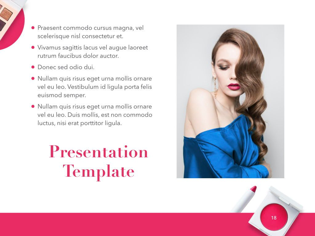 Beauty and Makeup PowerPoint Theme, Slide 19, 05148, Presentation Templates — PoweredTemplate.com