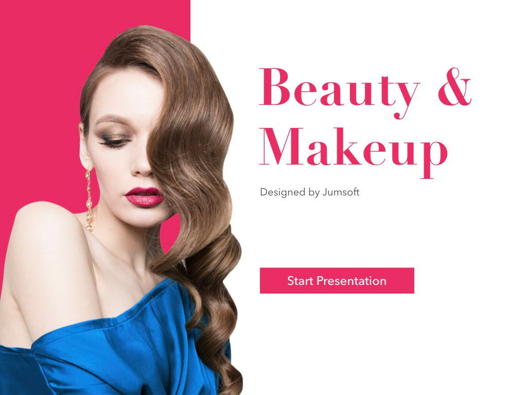 Beauty and Makeup PowerPoint Theme, Slide 2, 05148, Presentation Templates — PoweredTemplate.com
