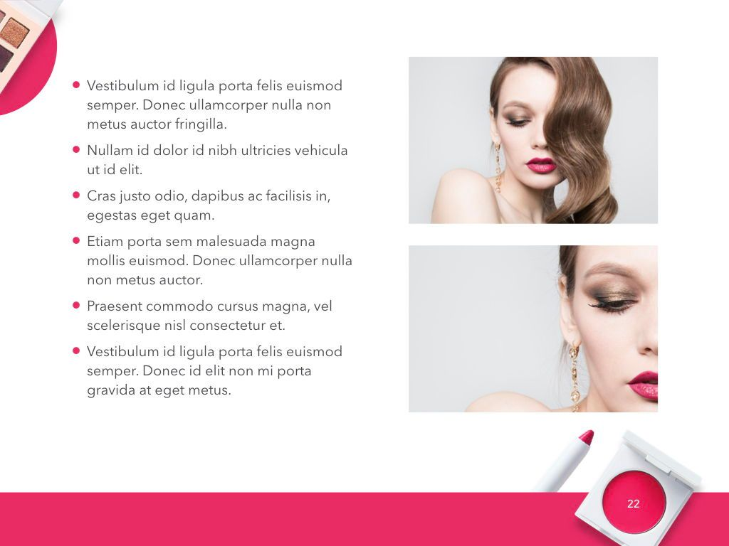 Beauty and Makeup PowerPoint Theme, Slide 23, 05148, Presentation Templates — PoweredTemplate.com