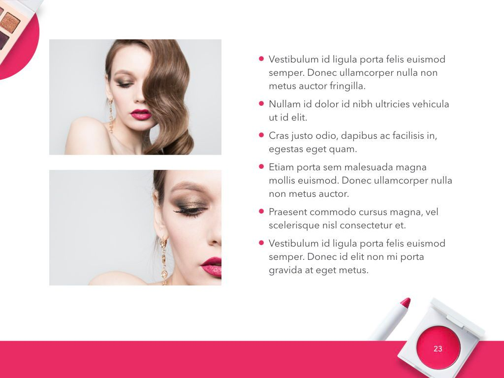 Beauty and Makeup PowerPoint Theme, Slide 24, 05148, Presentation Templates — PoweredTemplate.com