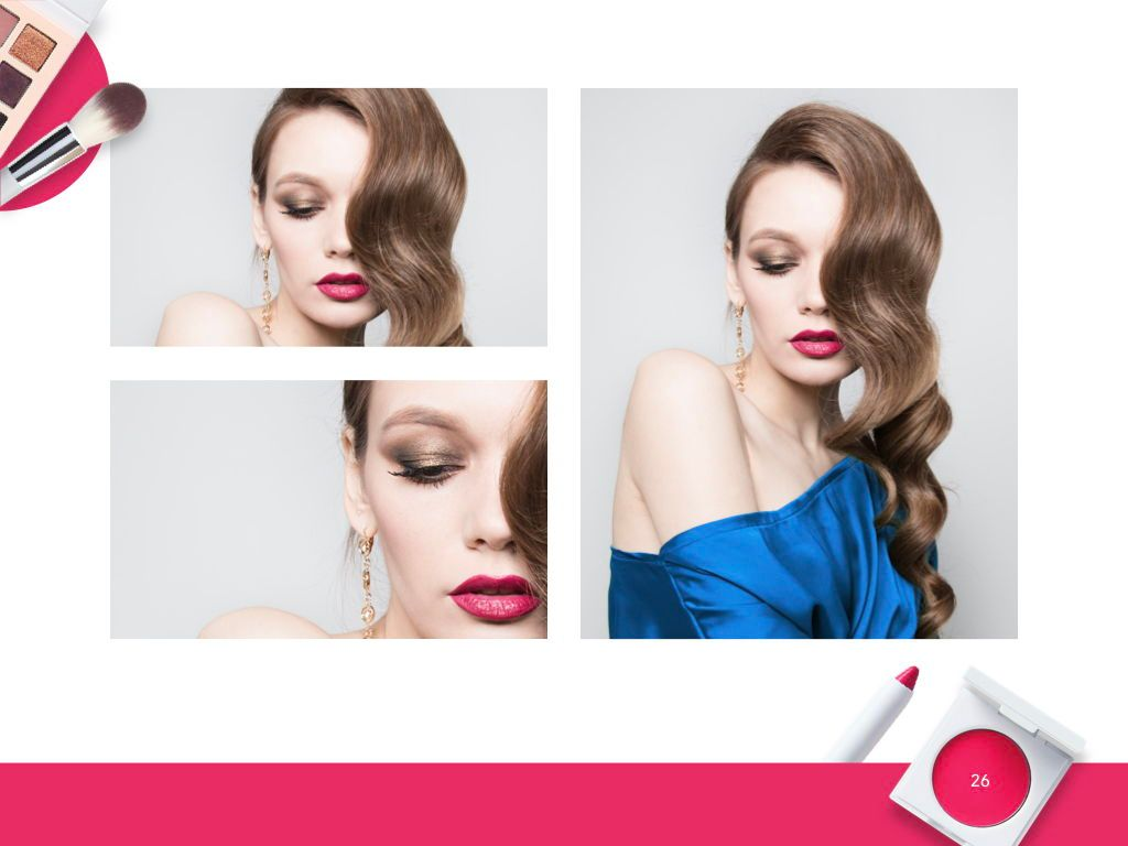 Beauty and Makeup PowerPoint Theme, Slide 27, 05148, Presentation Templates — PoweredTemplate.com