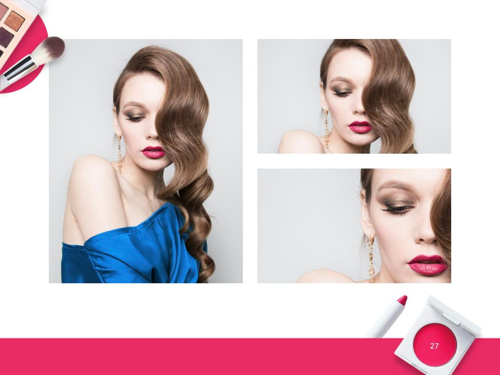 Beauty and Makeup PowerPoint Theme, Slide 28, 05148, Presentation Templates — PoweredTemplate.com