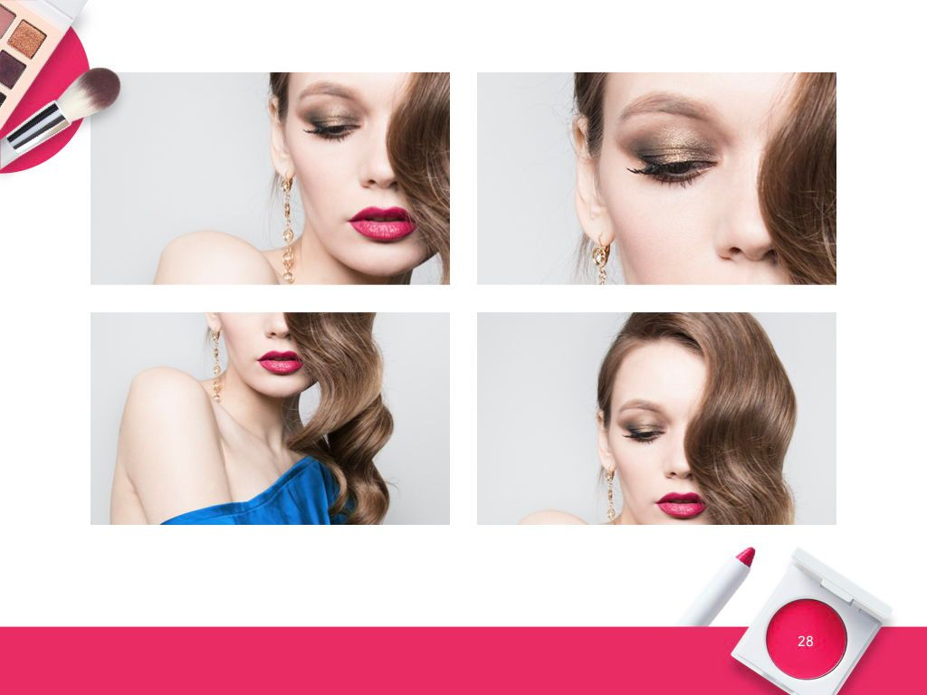 Beauty and Makeup PowerPoint Theme, Slide 29, 05148, Presentation Templates — PoweredTemplate.com