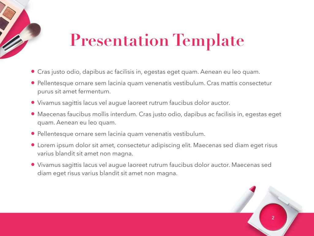 Beauty and Makeup PowerPoint Theme, Slide 3, 05148, Presentation Templates — PoweredTemplate.com