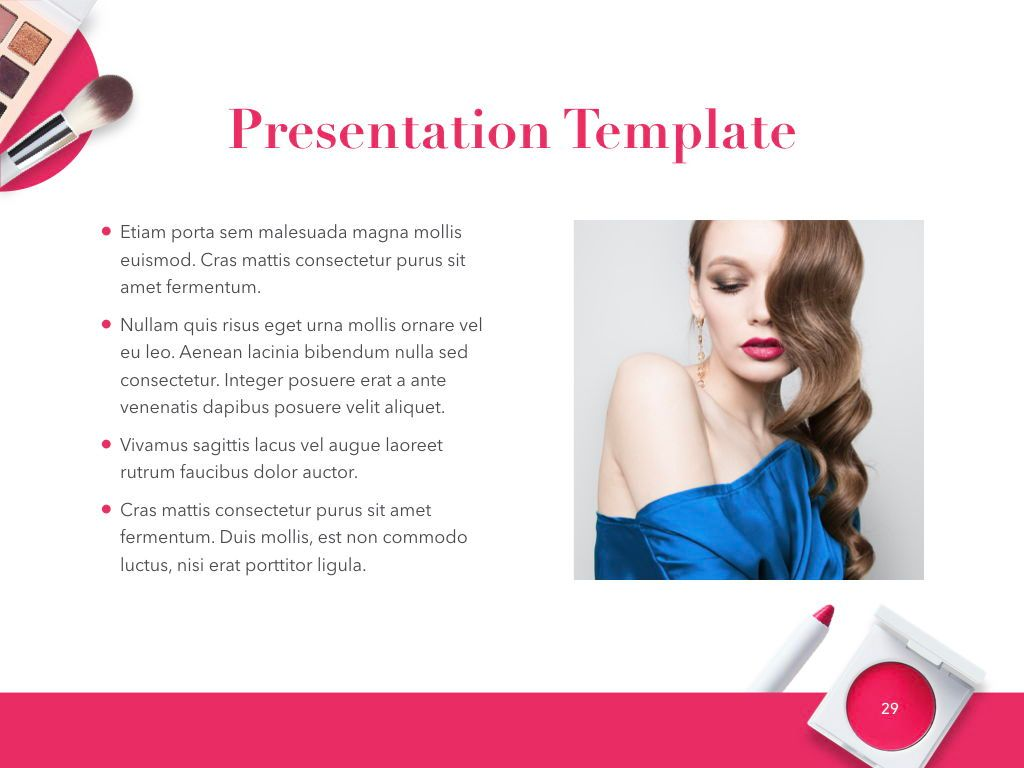Beauty and Makeup PowerPoint Theme, Slide 30, 05148, Presentation Templates — PoweredTemplate.com