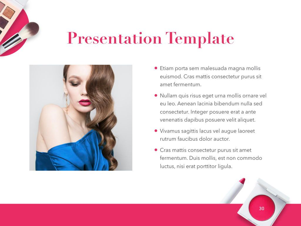 Beauty and Makeup PowerPoint Theme, Slide 31, 05148, Presentation Templates — PoweredTemplate.com