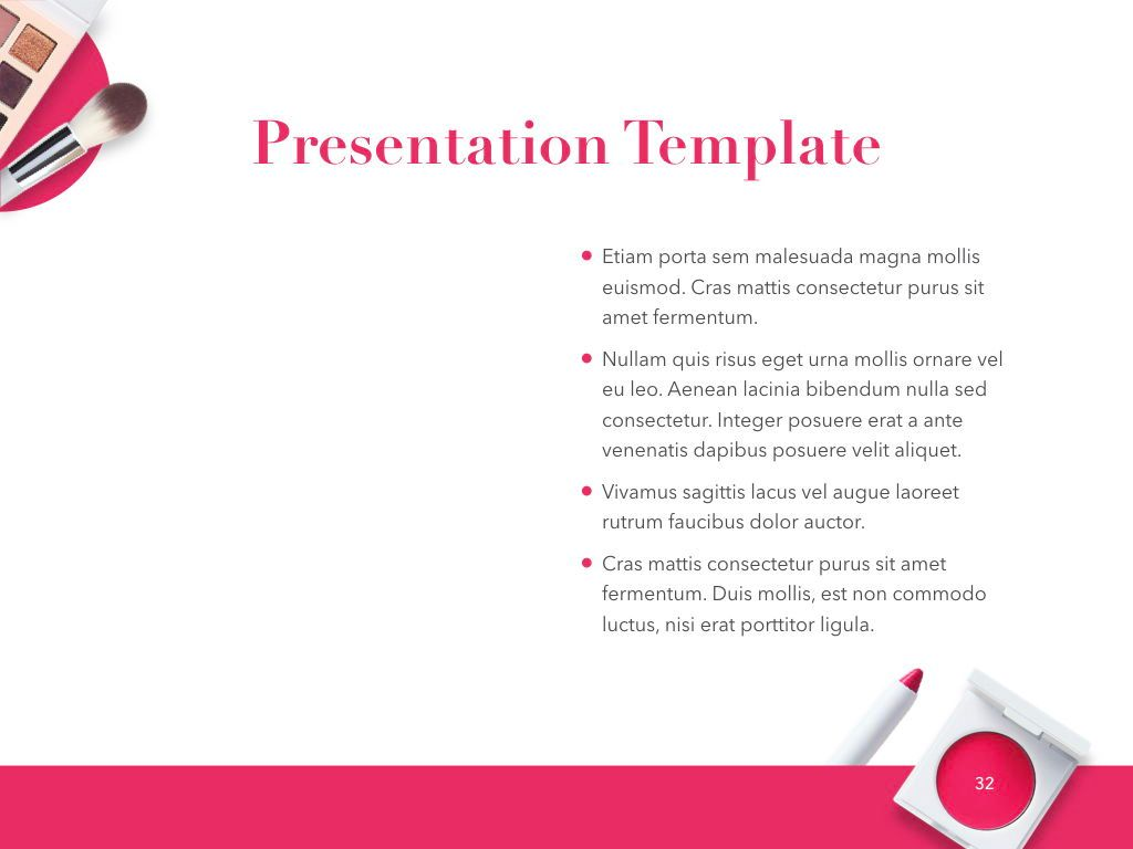 Beauty and Makeup PowerPoint Theme, Slide 33, 05148, Presentation Templates — PoweredTemplate.com