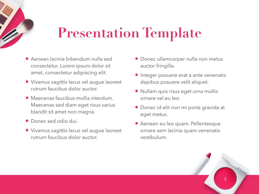 Beauty and Makeup PowerPoint Theme, Slide 4, 05148, Presentation Templates — PoweredTemplate.com