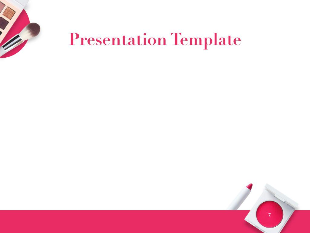 Beauty and Makeup PowerPoint Theme, Slide 8, 05148, Presentation Templates — PoweredTemplate.com