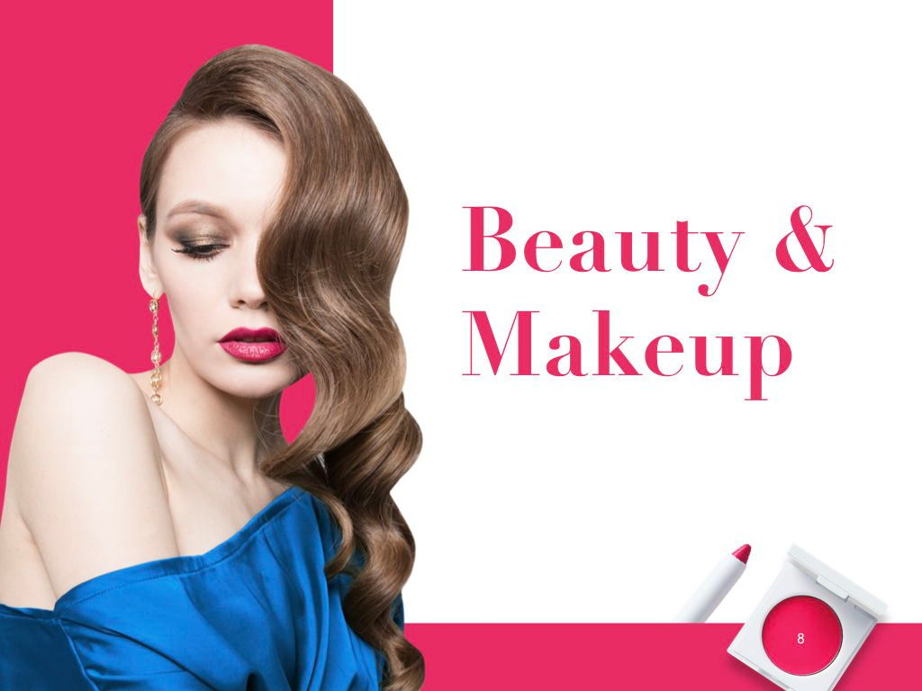 Beauty and Makeup PowerPoint Theme, Slide 9, 05148, Presentation Templates — PoweredTemplate.com