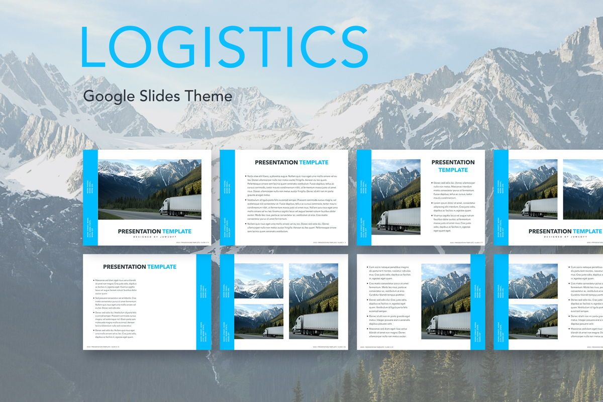 Logistics Google Slides Theme, 05149, Presentation Templates — PoweredTemplate.com