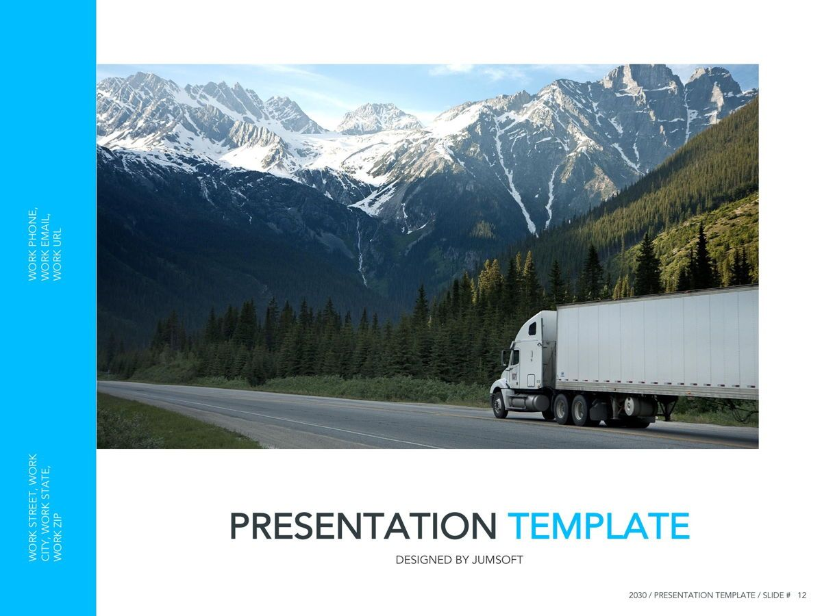 Logistics Google Slides Theme, Slide 13, 05149, Presentation Templates — PoweredTemplate.com