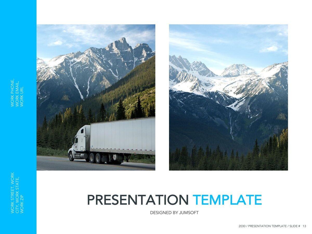 Logistics Google Slides Theme, Slide 14, 05149, Presentation Templates — PoweredTemplate.com