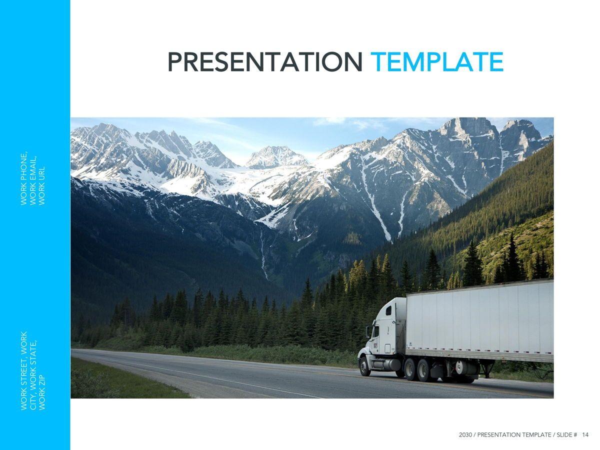 Logistics Google Slides Theme, Slide 15, 05149, Presentation Templates — PoweredTemplate.com
