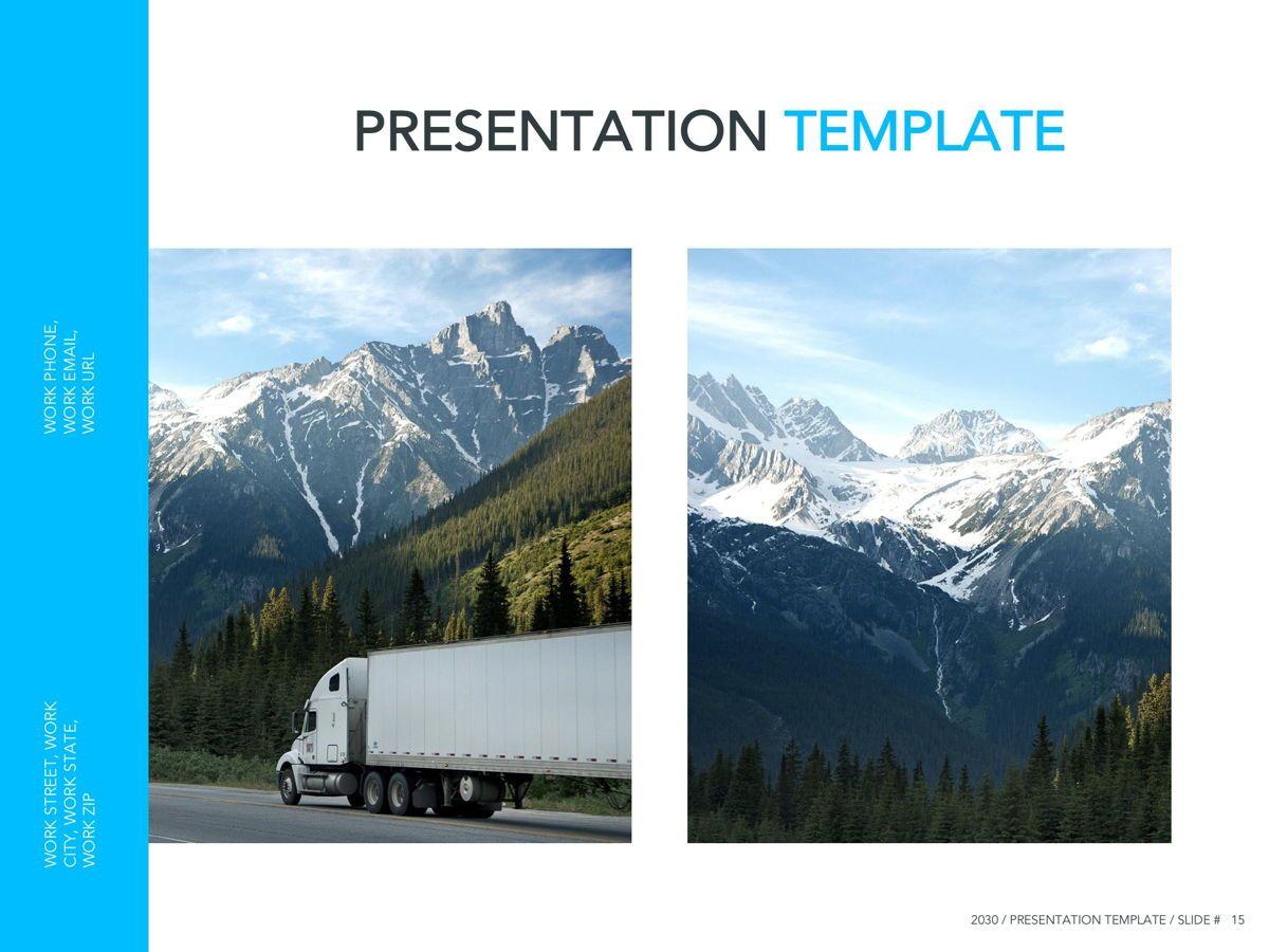 Logistics Google Slides Theme, Slide 16, 05149, Presentation Templates — PoweredTemplate.com