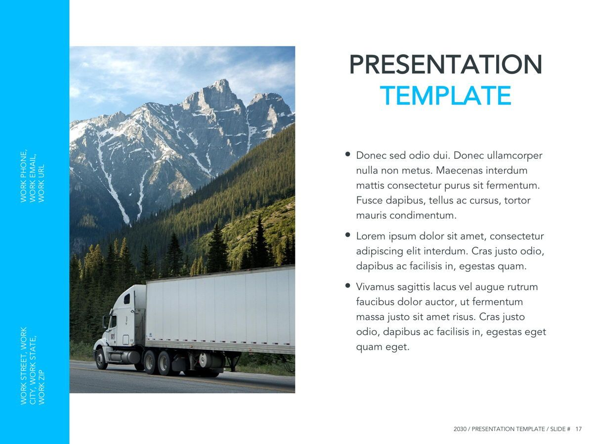 Logistics Google Slides Theme, Slide 18, 05149, Presentation Templates — PoweredTemplate.com
