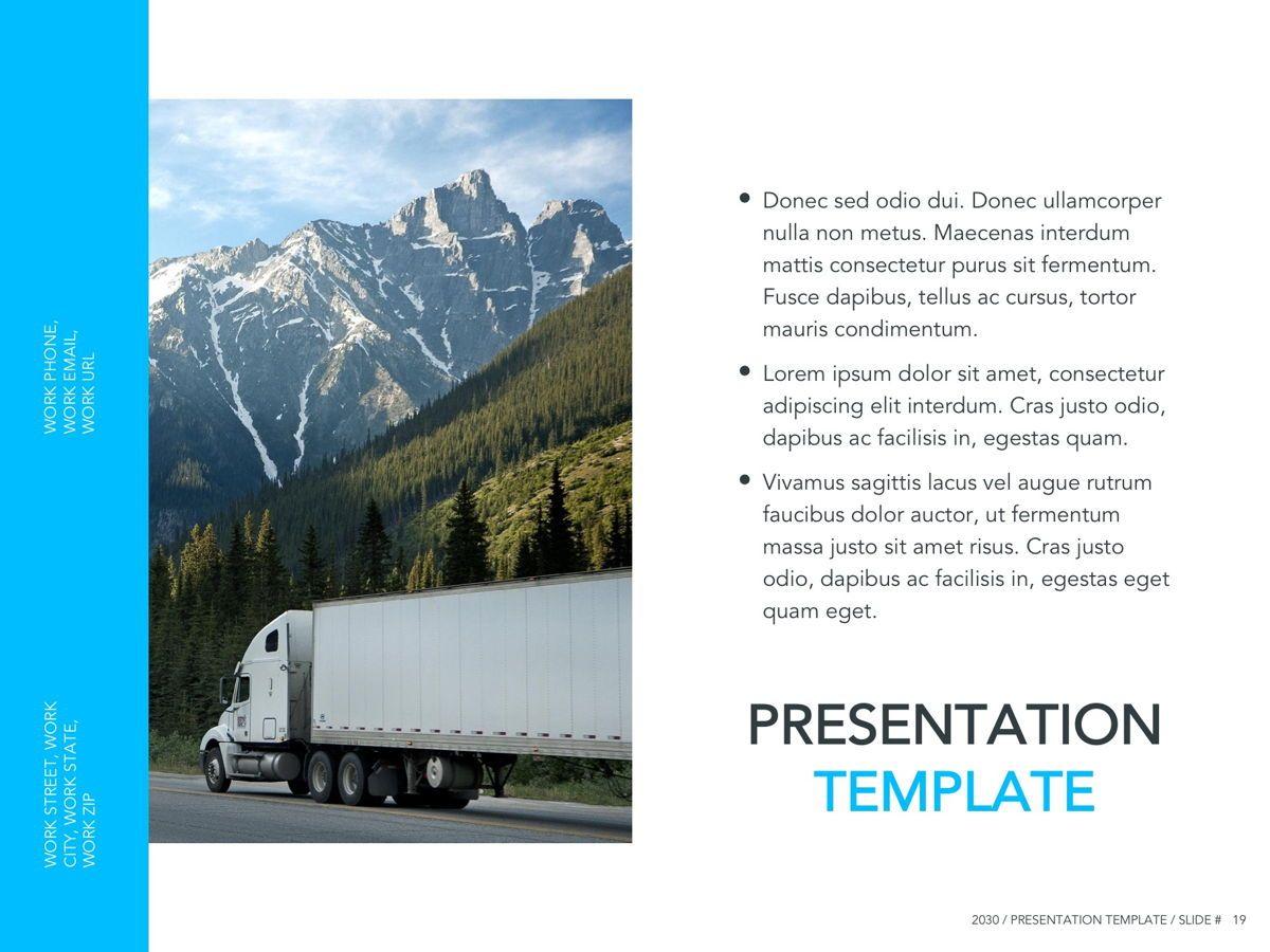 Logistics Google Slides Theme, Slide 20, 05149, Presentation Templates — PoweredTemplate.com