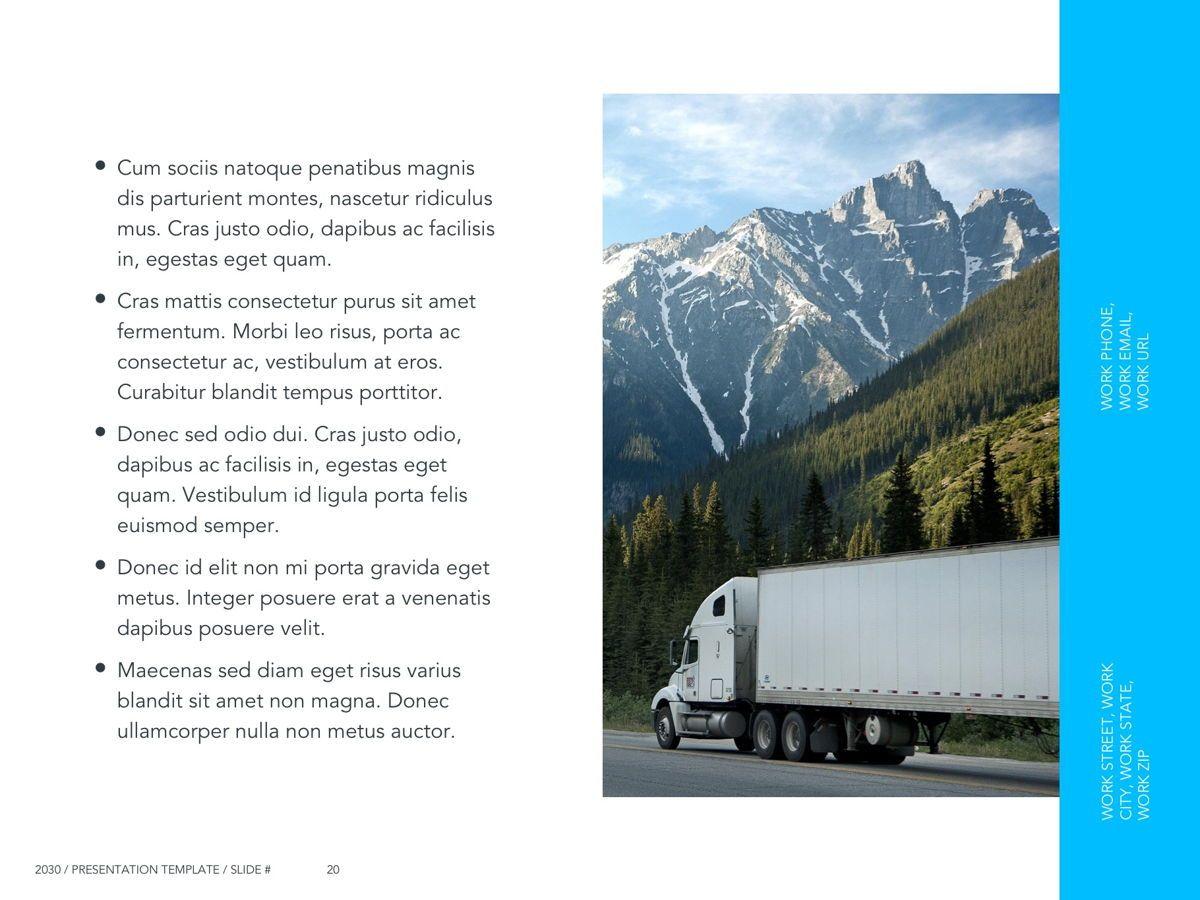 Logistics Google Slides Theme, Slide 21, 05149, Presentation Templates — PoweredTemplate.com