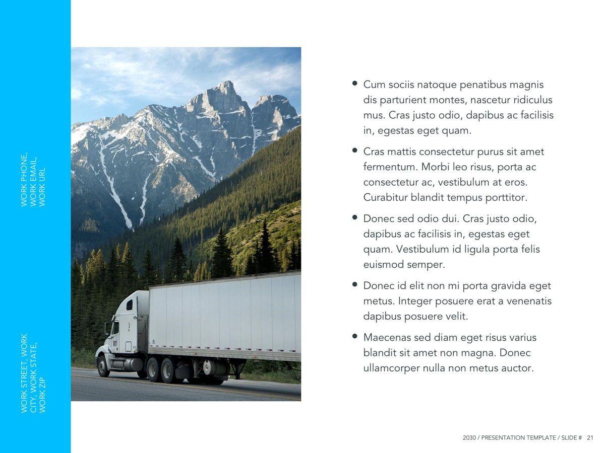 Logistics Google Slides Theme, Slide 22, 05149, Presentation Templates — PoweredTemplate.com