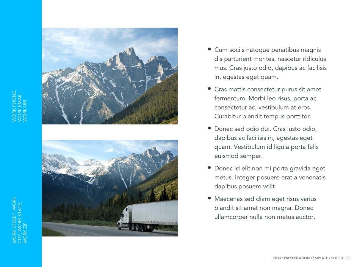 Logistics Google Slides Theme, Slide 23, 05149, Presentation Templates — PoweredTemplate.com