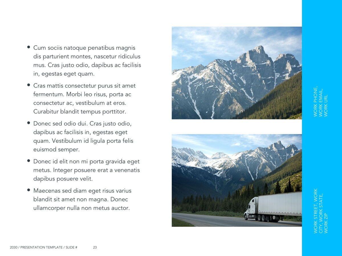 Logistics Google Slides Theme, Slide 24, 05149, Presentation Templates — PoweredTemplate.com