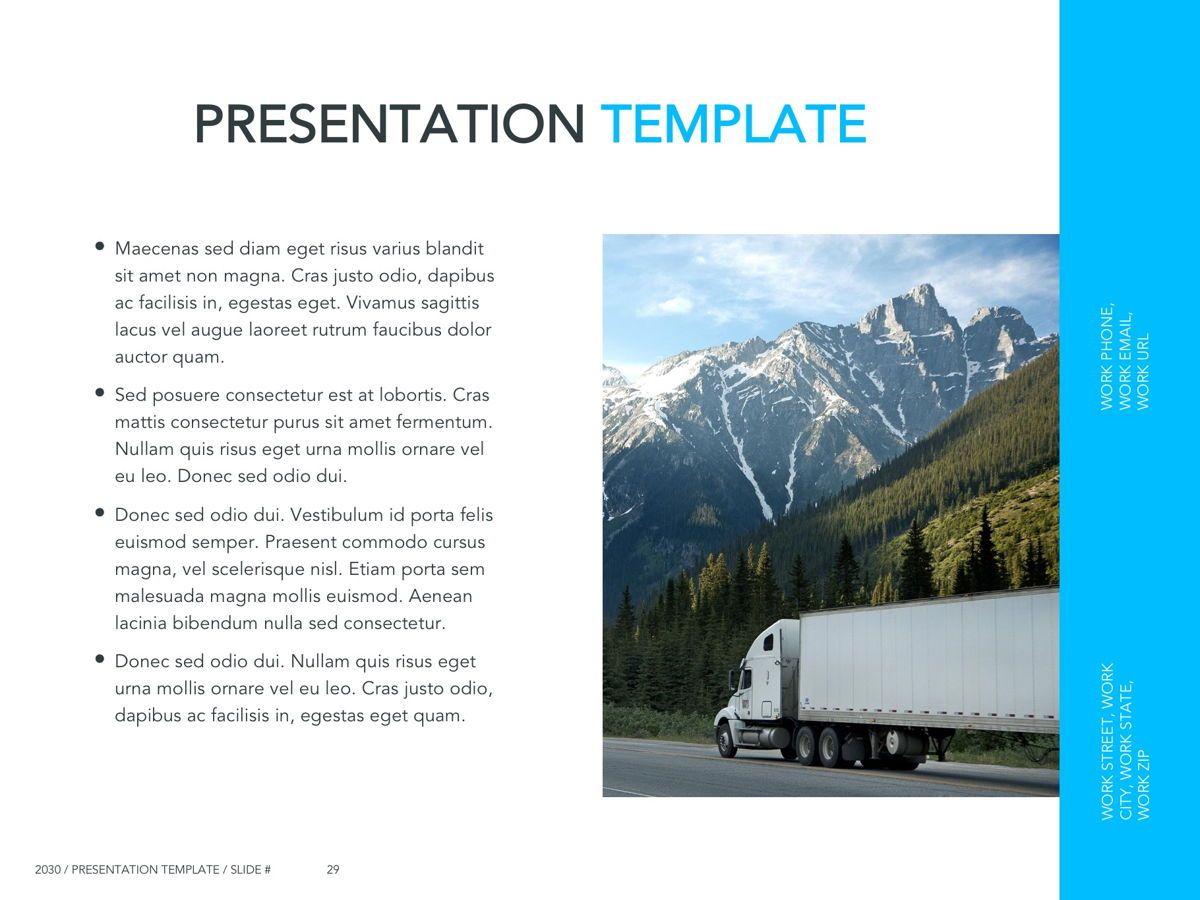 Logistics Google Slides Theme, Slide 30, 05149, Presentation Templates — PoweredTemplate.com