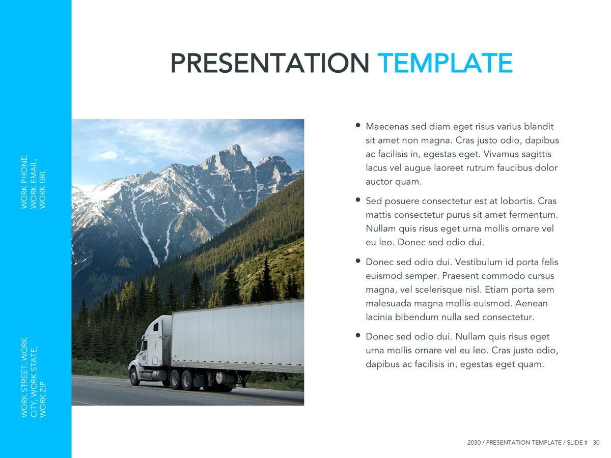 Logistics Google Slides Theme, Slide 31, 05149, Presentation Templates — PoweredTemplate.com