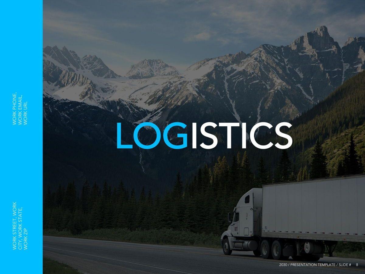 Logistics Google Slides Theme, Slide 9, 05149, Presentation Templates — PoweredTemplate.com
