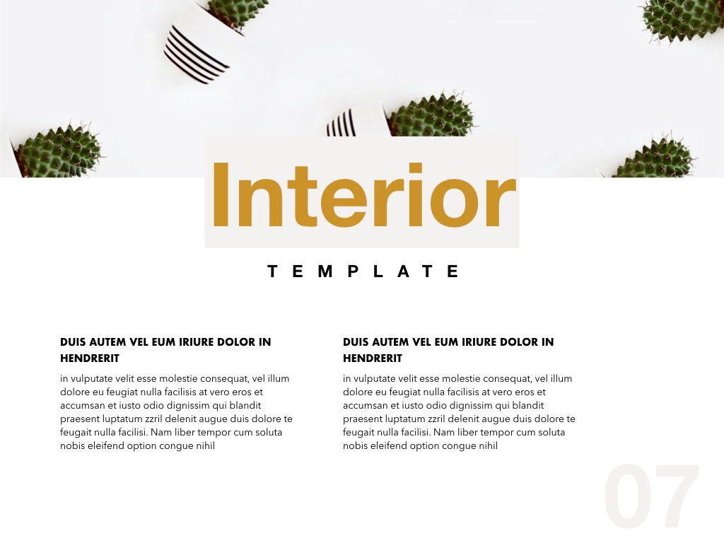 Cactus Decor Google Slides Presentation Template, Slide 7, 05157, Presentation Templates — PoweredTemplate.com