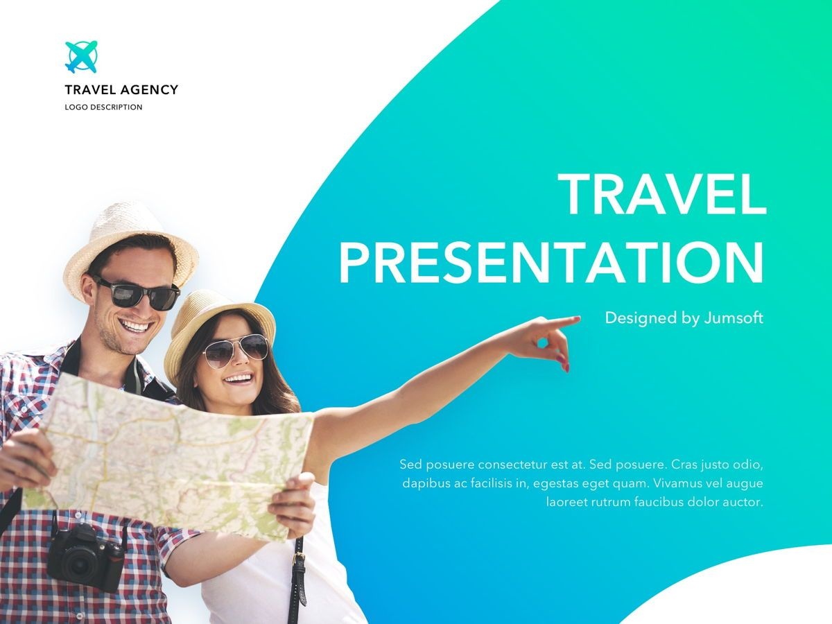 Travel Agency PowerPoint Template, 05162, Presentation Templates — PoweredTemplate.com