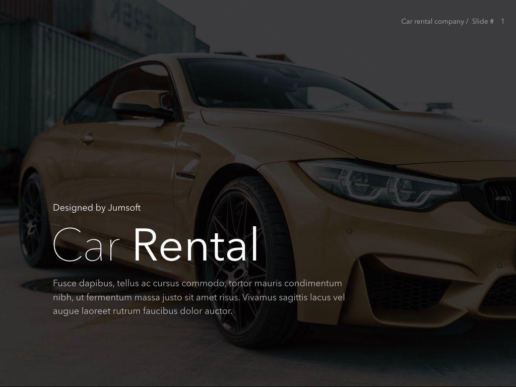 Car Rental PowerPoint Theme, Slide 2, 05164, Presentation Templates — PoweredTemplate.com