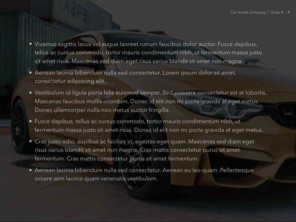 Car Rental PowerPoint Theme, Slide 5, 05164, Presentation Templates — PoweredTemplate.com