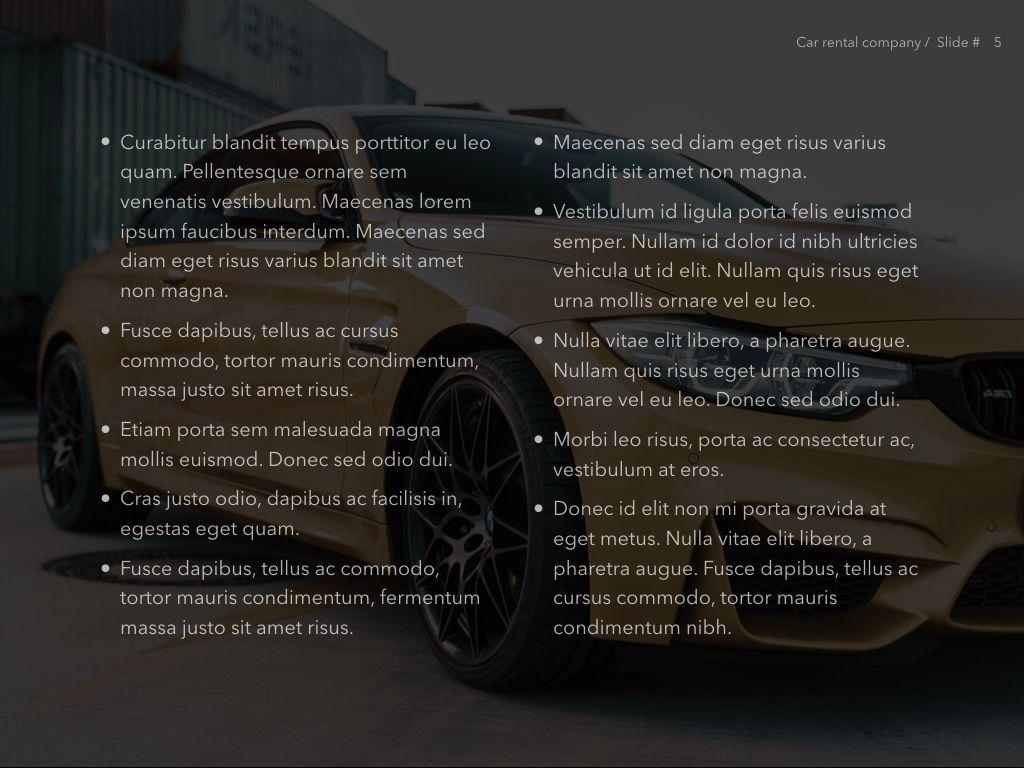Car Rental PowerPoint Theme, Slide 6, 05164, Presentation Templates — PoweredTemplate.com