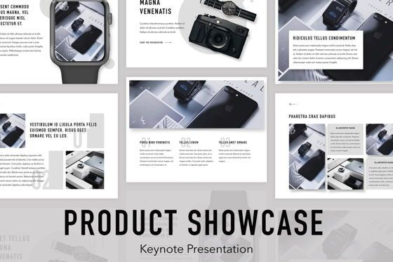 Presentation Templates: Product Showcase Keynote Template #05166