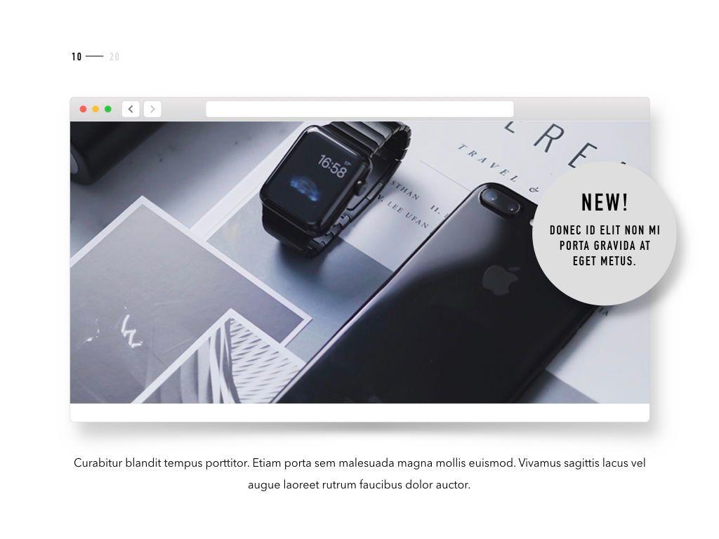 Product Showcase Keynote Template, Slide 11, 05166, Presentation Templates — PoweredTemplate.com
