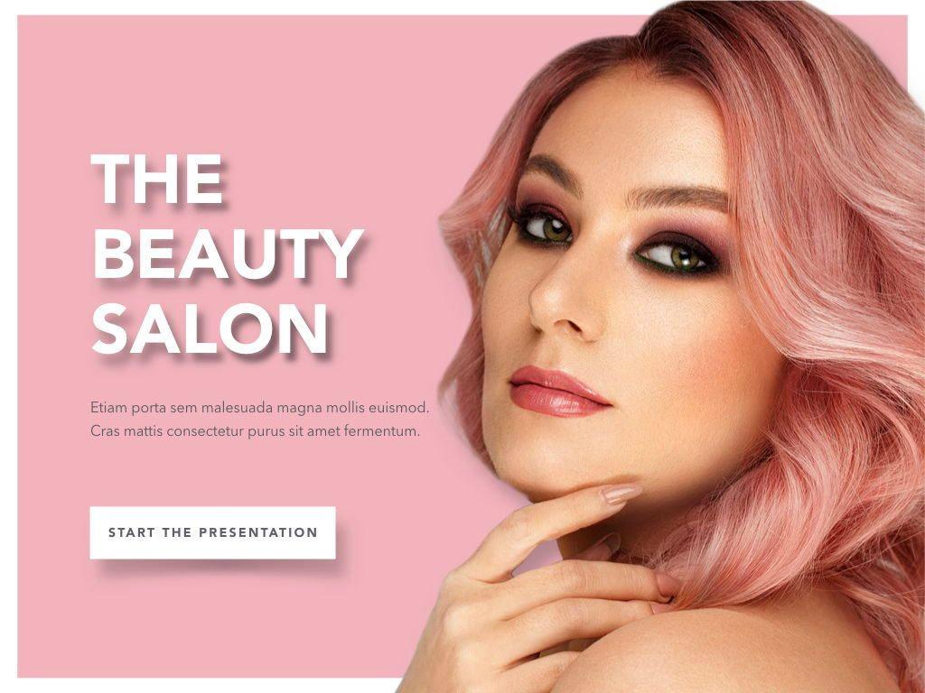 Beauty Maker Keynote Template, Slide 2, 05168, Presentation Templates — PoweredTemplate.com