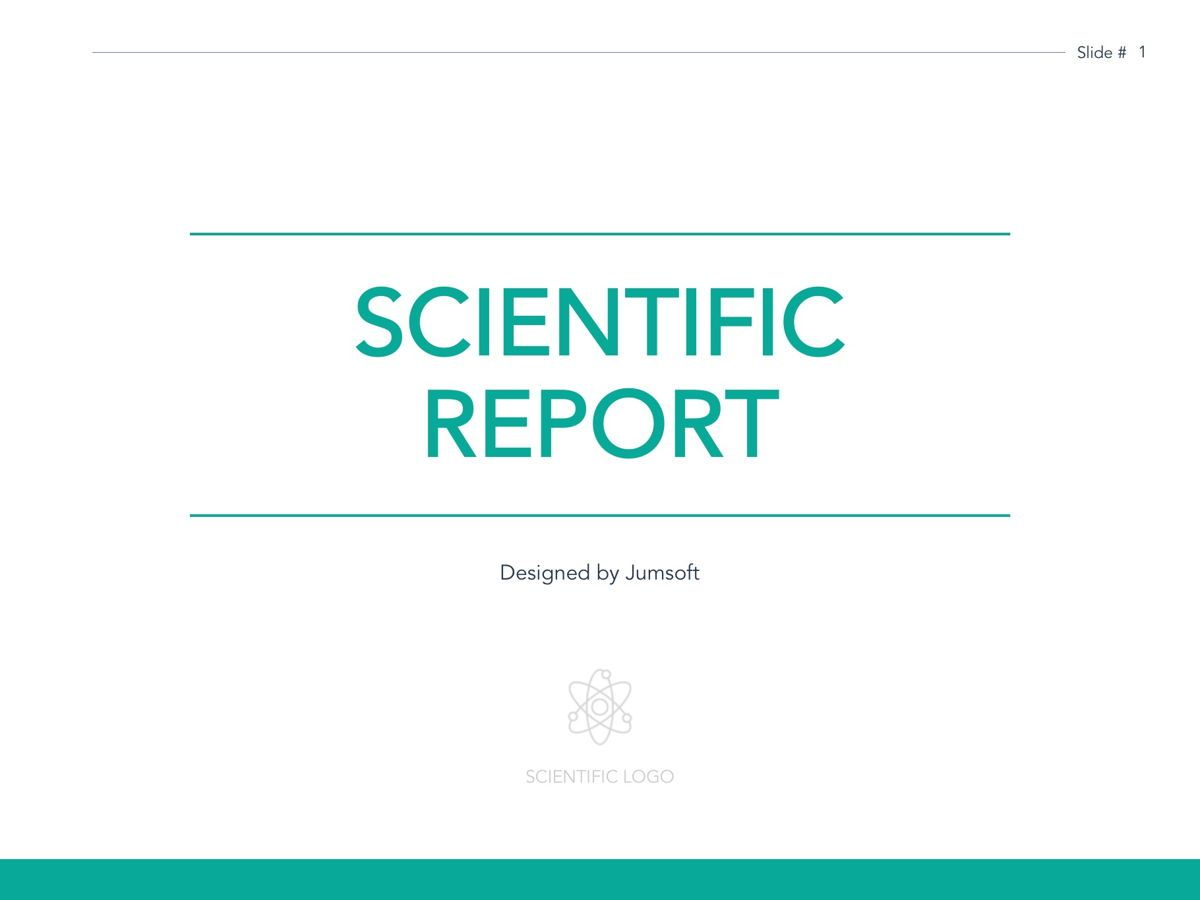 Scientific Report Google Slides Theme, Slide 2, 05170, Presentation Templates — PoweredTemplate.com