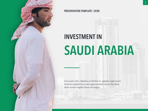 Presentation Templates: Country Saudi Arabia PowerPoint Template #05171
