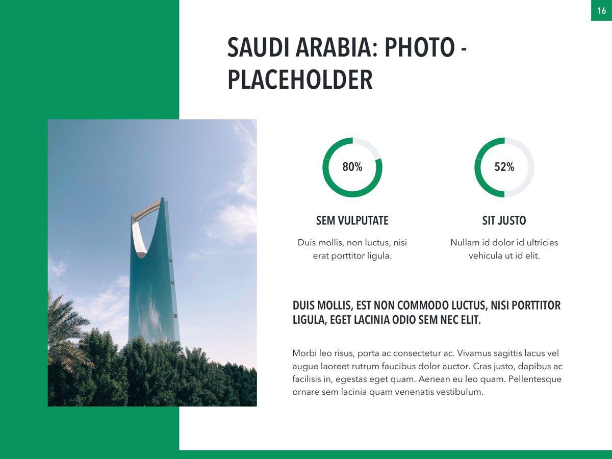 Country Saudi Arabia PowerPoint Template, Slide 16, 05171, Presentation Templates — PoweredTemplate.com