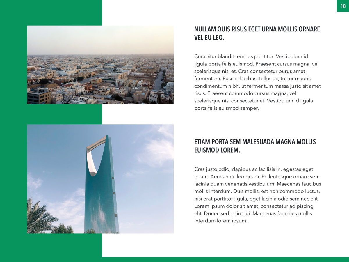 Country Saudi Arabia PowerPoint Template, Slide 18, 05171, Presentation Templates — PoweredTemplate.com