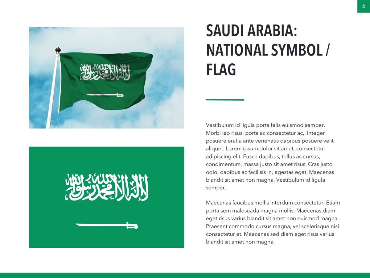 Country Saudi Arabia PowerPoint Template, Slide 4, 05171, Presentation Templates — PoweredTemplate.com