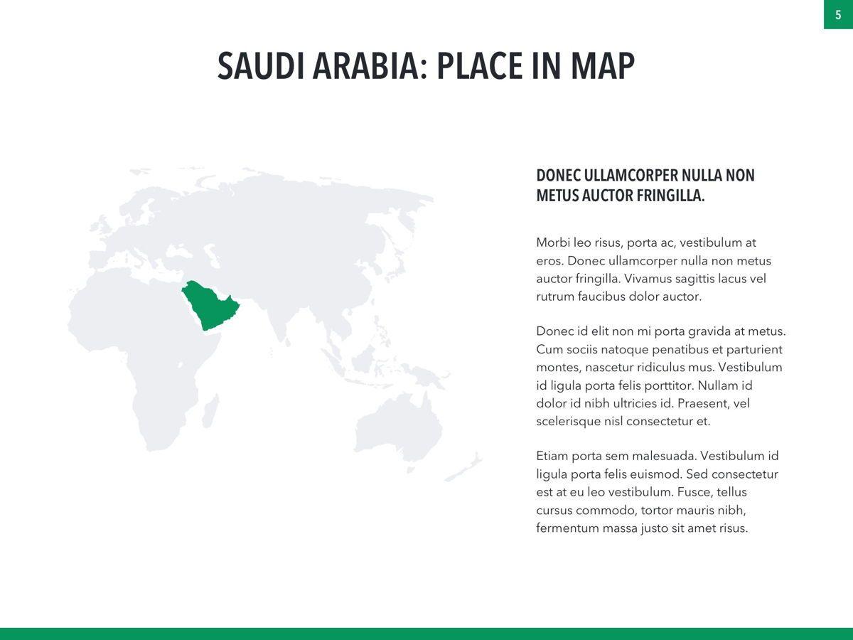 Country Saudi Arabia PowerPoint Template, Slide 5, 05171, Presentation Templates — PoweredTemplate.com