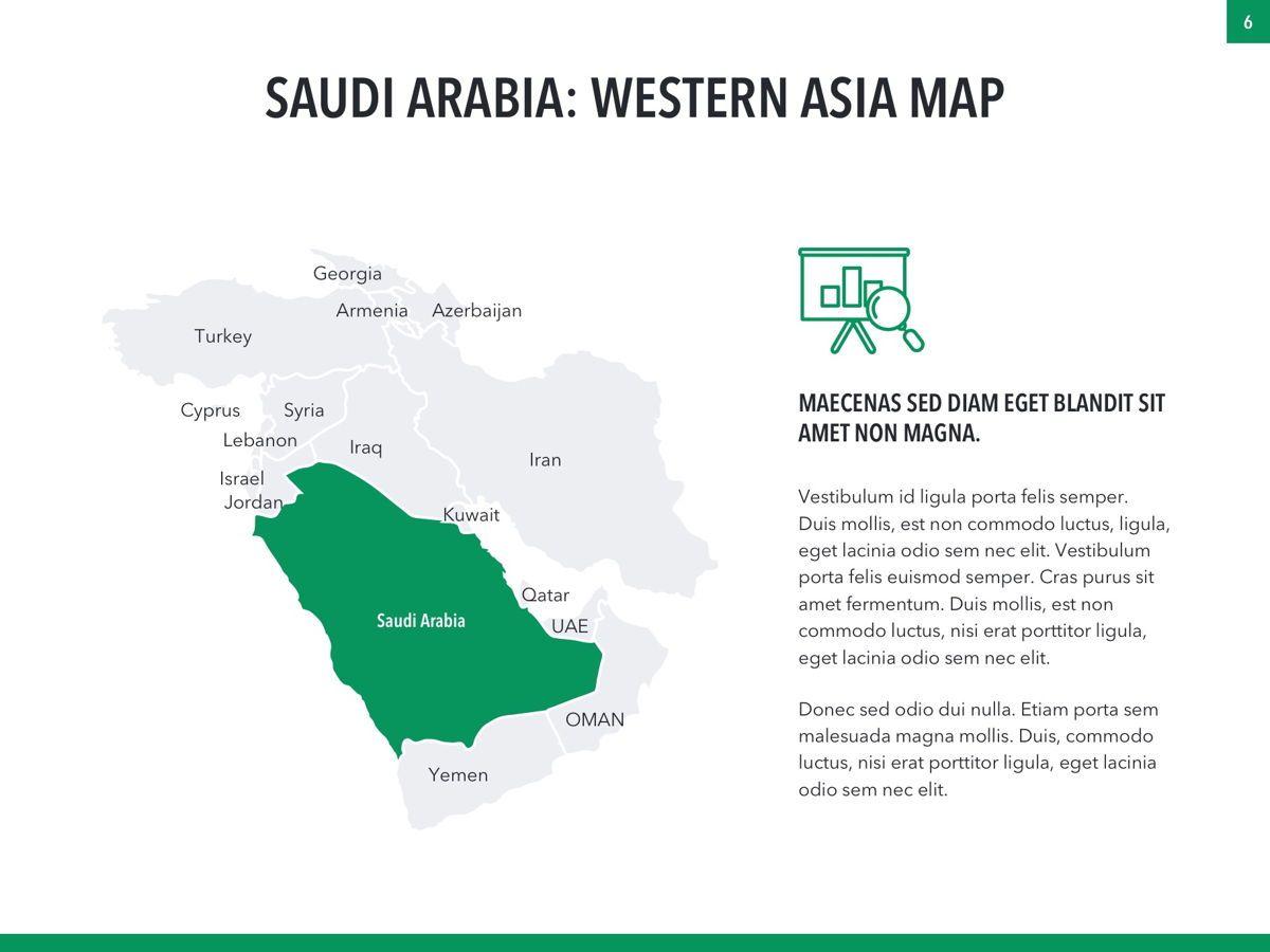 Country Saudi Arabia PowerPoint Template, Slide 6, 05171, Presentation Templates — PoweredTemplate.com