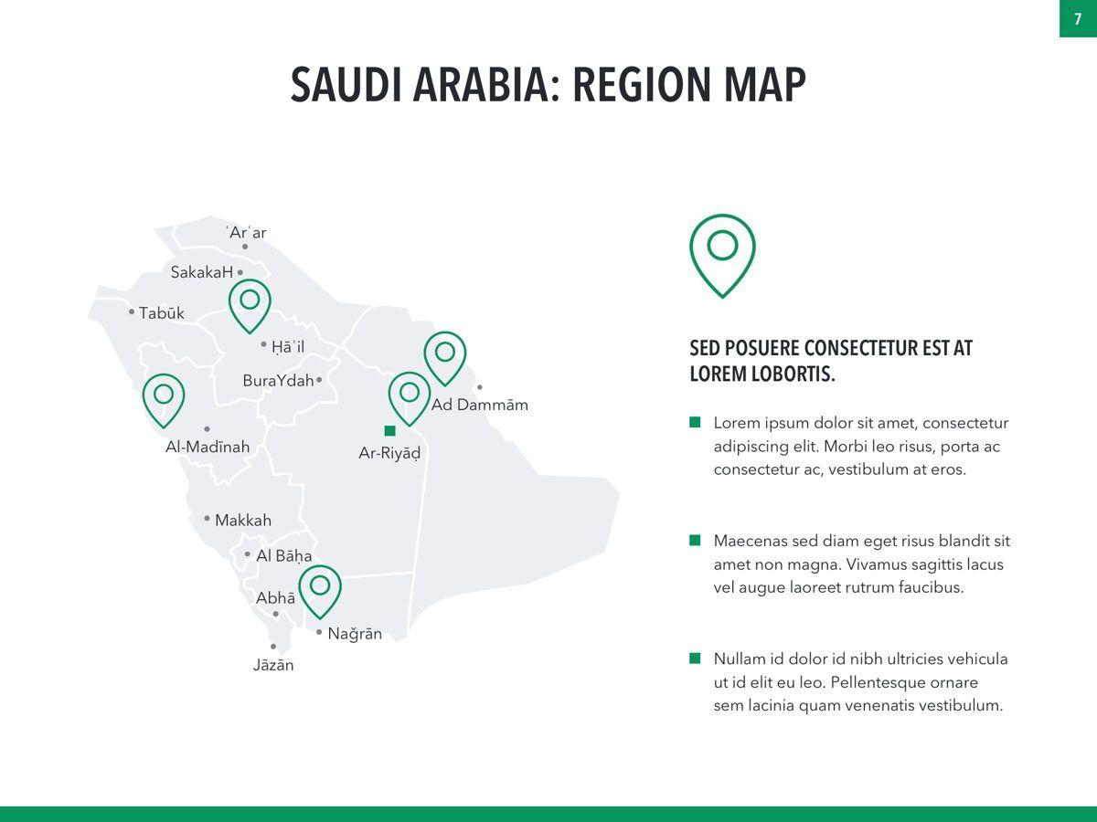 Country Saudi Arabia PowerPoint Template, Slide 7, 05171, Presentation Templates — PoweredTemplate.com