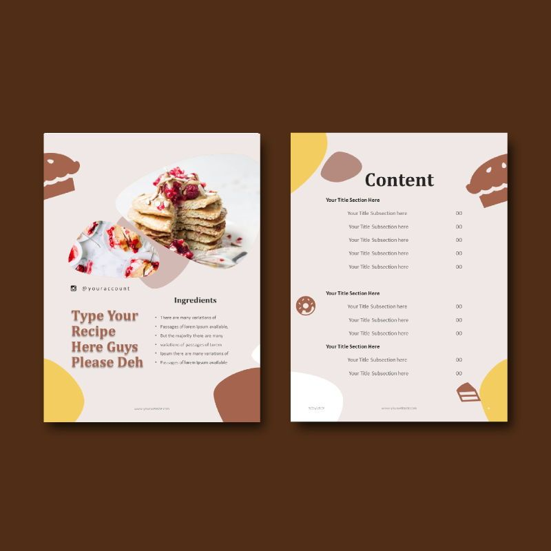 Cake bakery ebook keynote template, Slide 4, 05173, Presentation Templates — PoweredTemplate.com