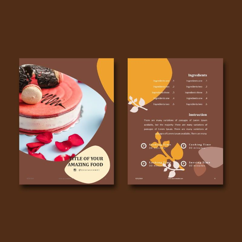 Cake bakery ebook keynote template, Slide 6, 05173, Presentation Templates — PoweredTemplate.com