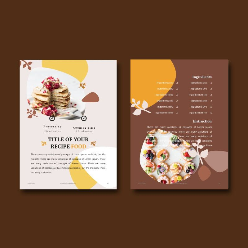 Cake bakery ebook keynote template, Slide 7, 05173, Presentation Templates — PoweredTemplate.com