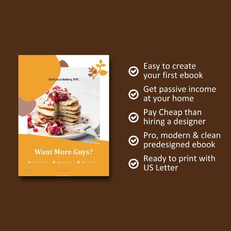 Cake bakery ebook keynote template, Slide 9, 05173, Presentation Templates — PoweredTemplate.com